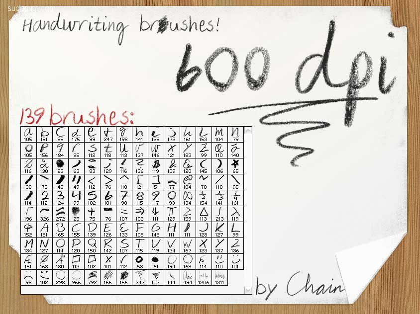 300+免费的手写Photoshop笔刷合集下载