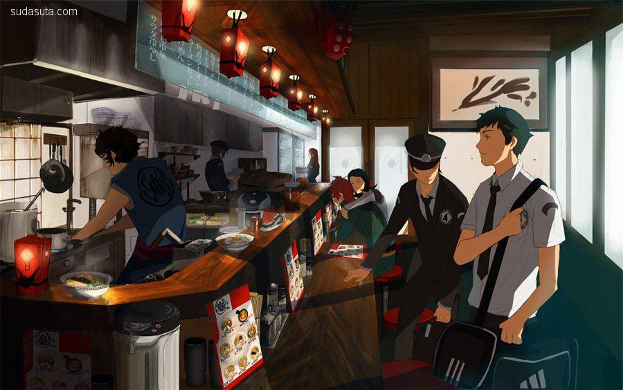 概念插画家 Amei Zhao 带着音乐的镜头