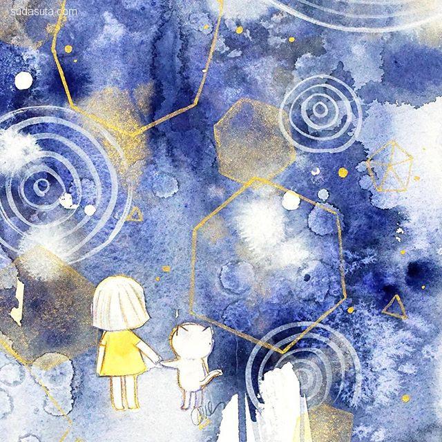 Amelia Cantlay 清新可爱的水彩插画