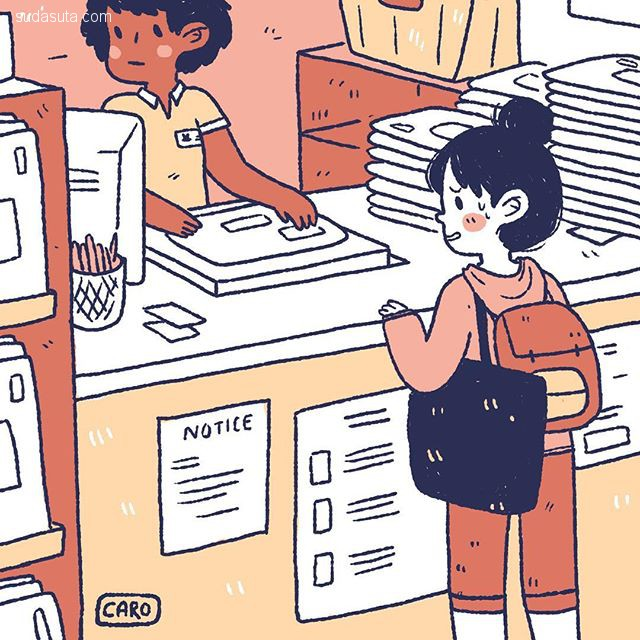 Caroline Frumento 漫画和猫
