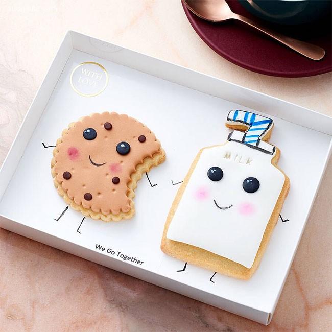 带着温暖笑容的可爱饼干设计