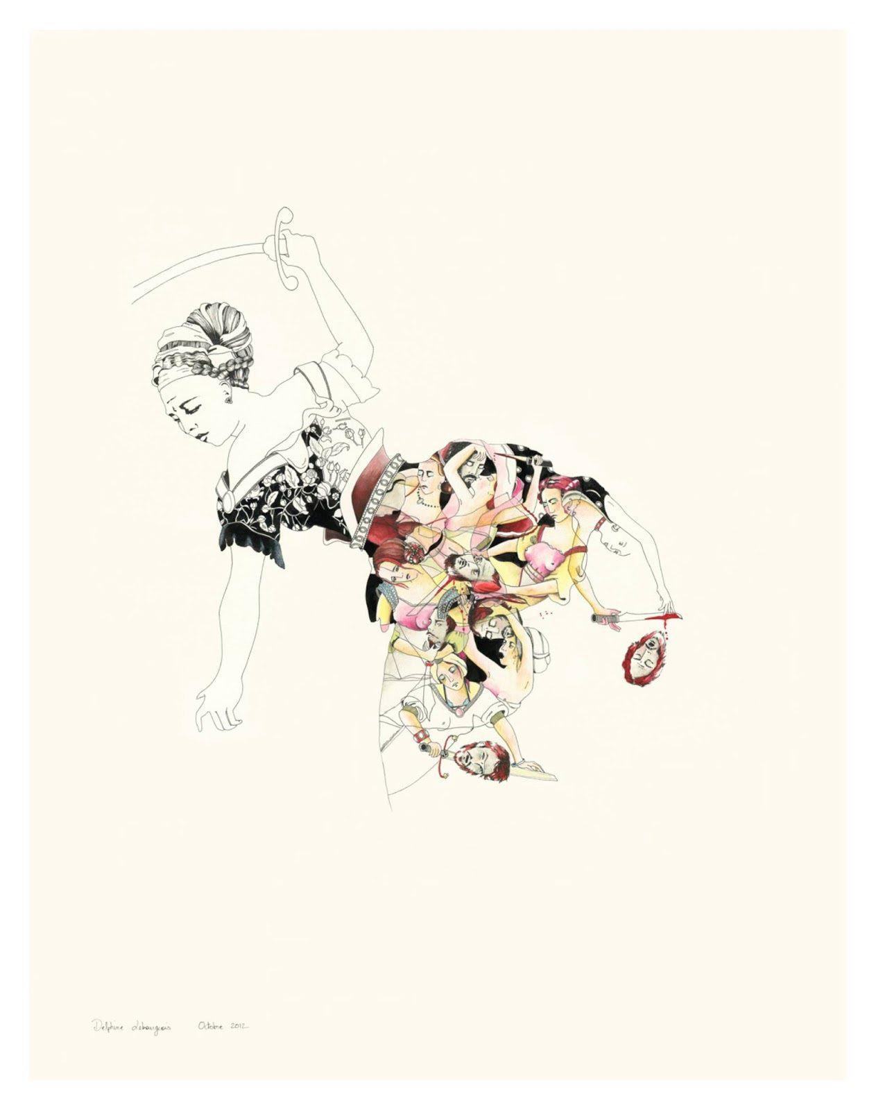 Delphine Lebourgeois 绘画艺术欣赏