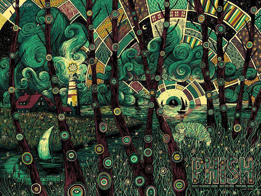 James R. Eads 音乐的漩涡 绘画作品欣赏