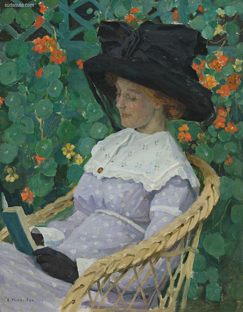 Emanuel Phillips Fox 古典主义绘画作品欣赏