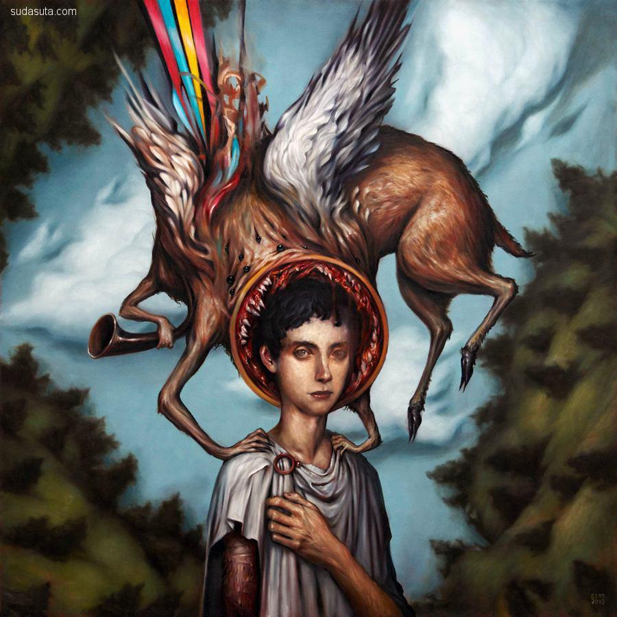 Esao Andrews 的恐怖故事 超现实主义绘画艺术欣赏