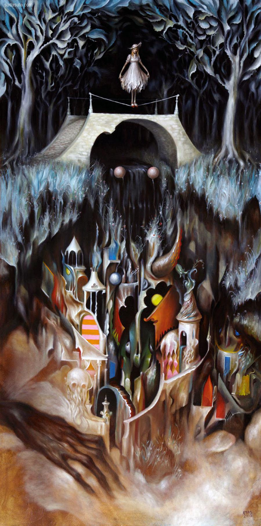 Esao Andrews 不可思议的超现实主义绘画作品欣赏