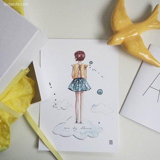 Esther Gili 水彩漫画欣赏