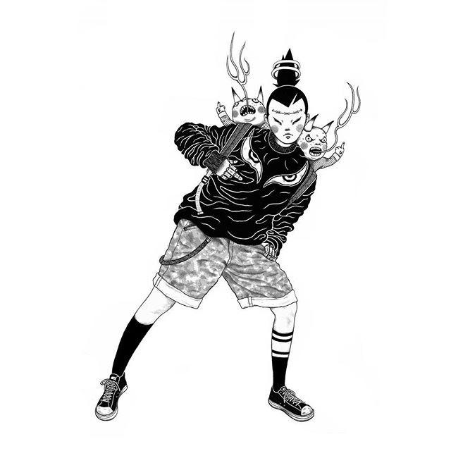 Gerald Leung 黑白插画欣赏