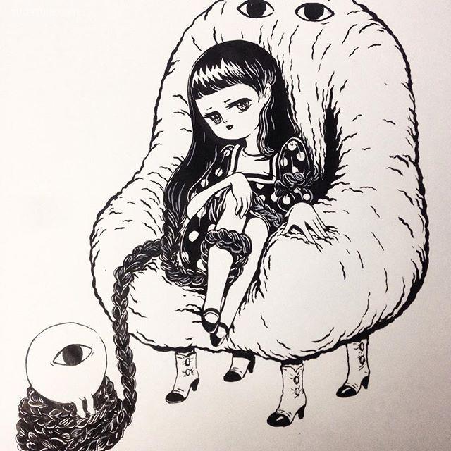 Joohee Stickymonger 夸张的波普漫画