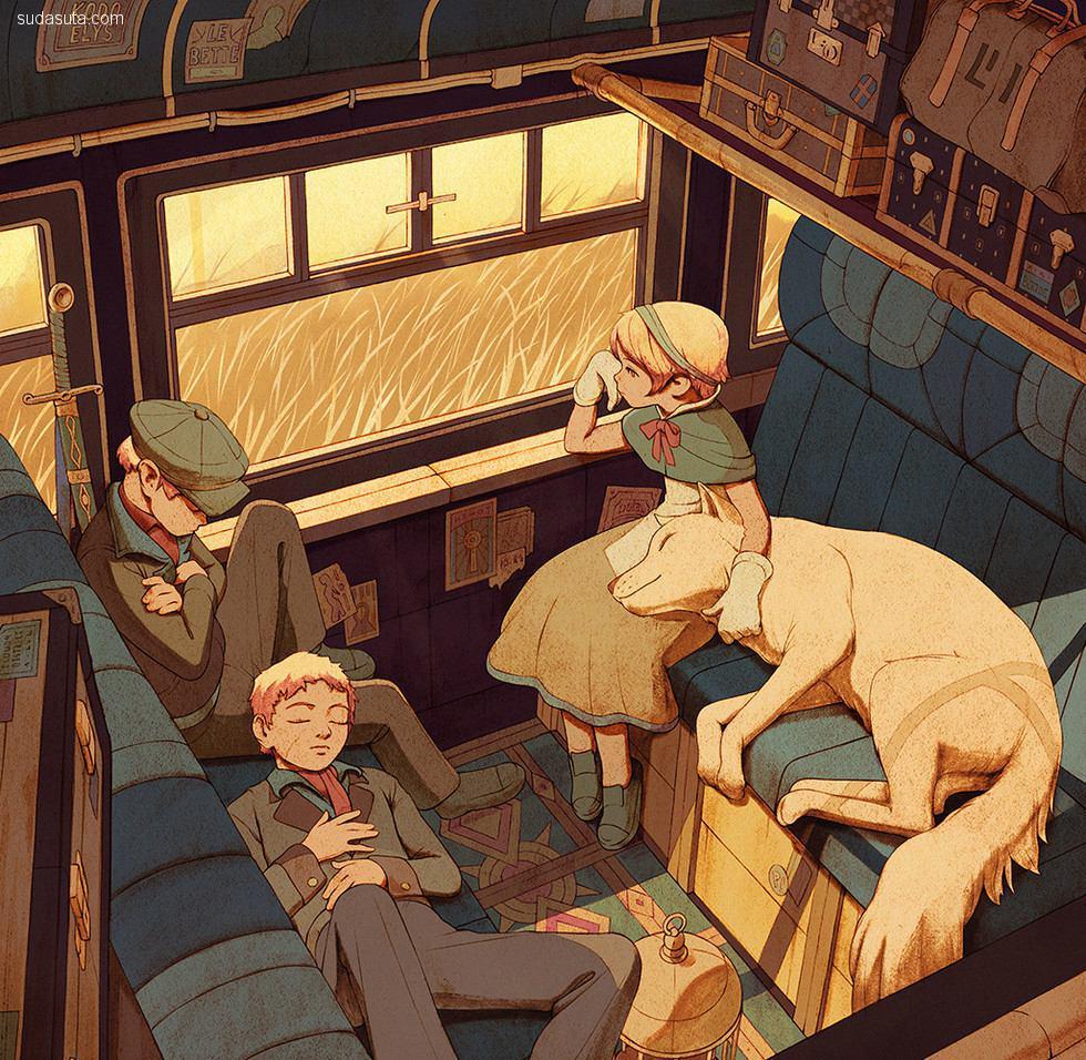 自由插画家 Kevin Hong 的光影世界