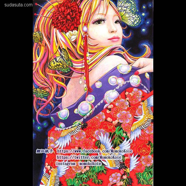 Momoko Koie 日本艺妓绘