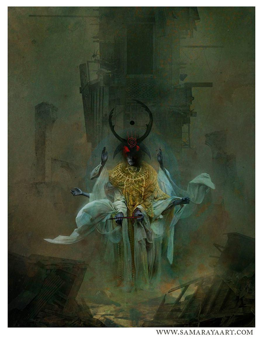 Samuel Araya 坠入噩梦 绘画艺术欣赏