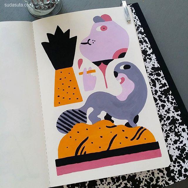 Rick Berkelmans 装饰插画欣赏
