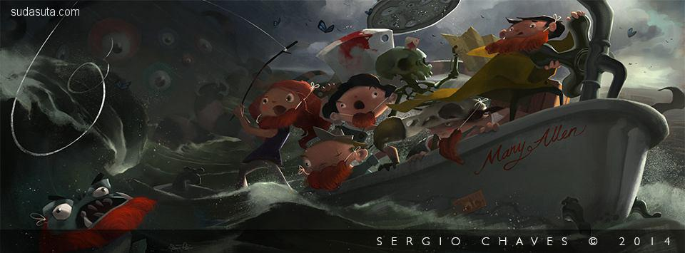 Sergio Chaves 书籍插画欣赏