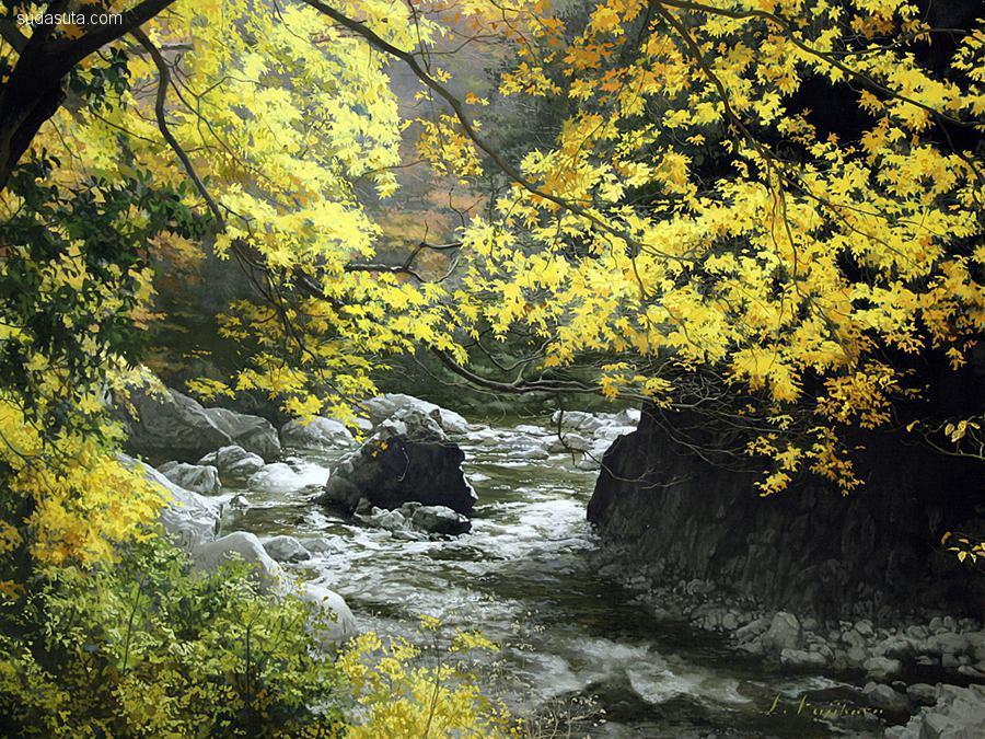 藤原秀一/Shuichi Fujihara 风景绘画欣赏