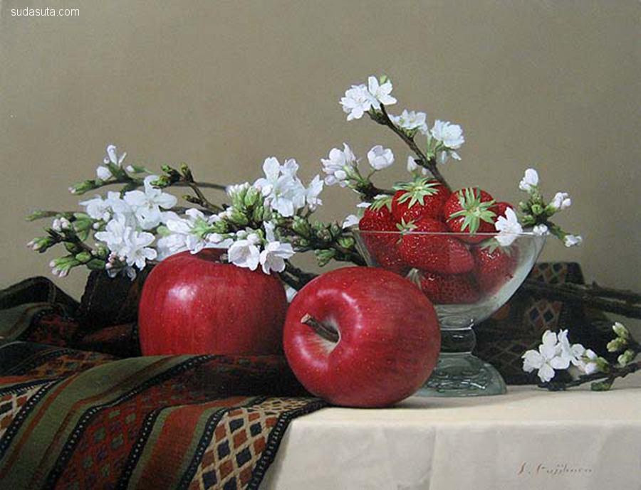 藤原秀一(Shuichi Fujihara) 花朵的绘画