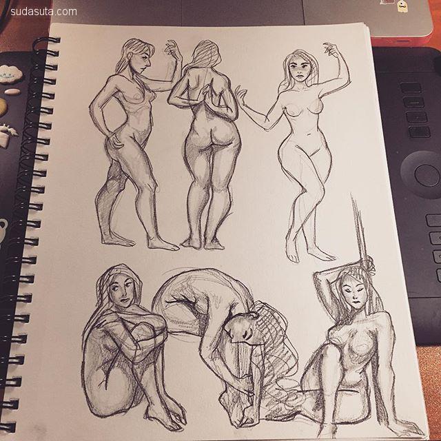 Susan B 卡通草图本子