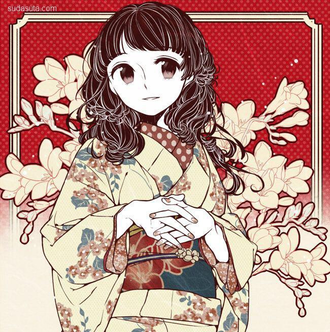 花瀬 二次元和服美少女