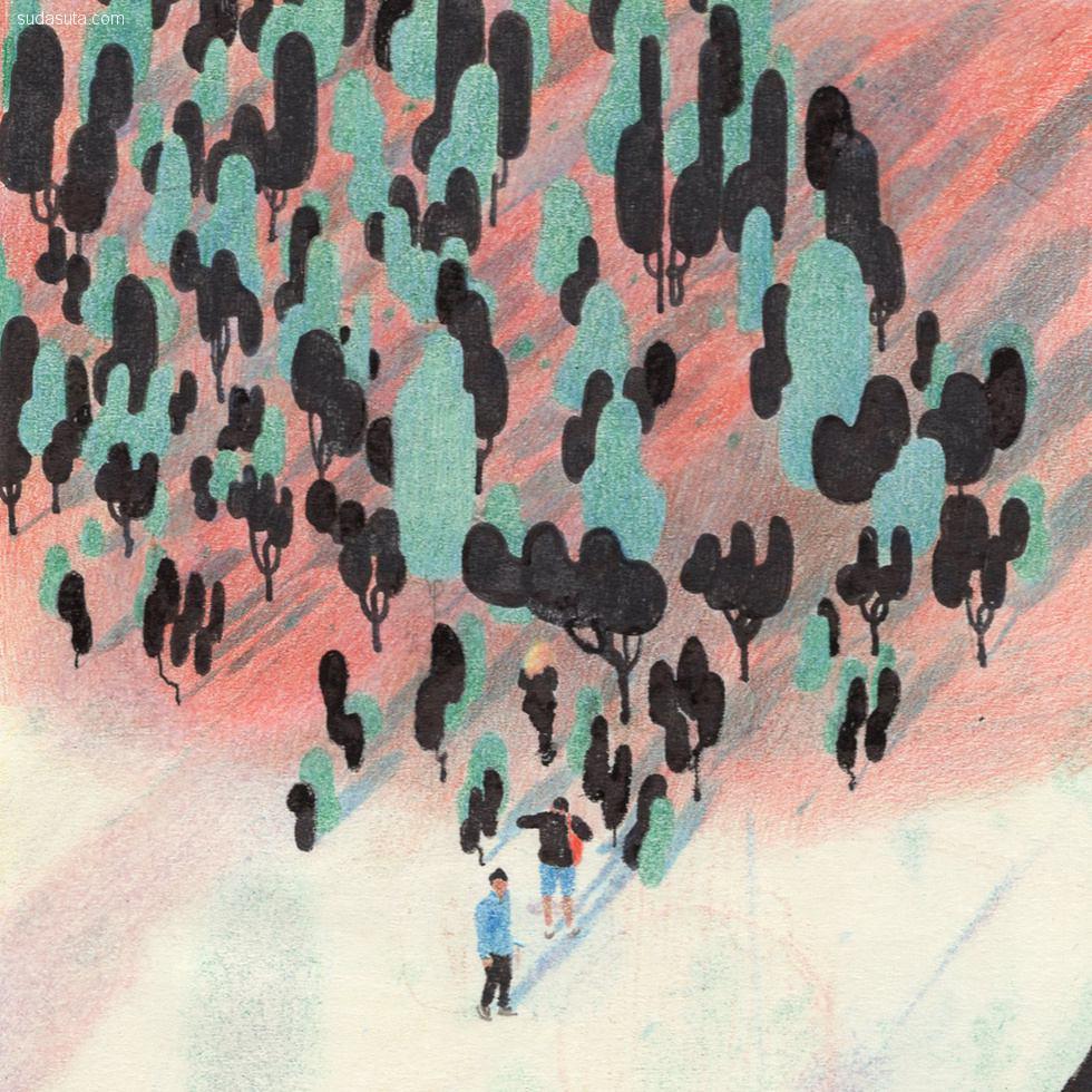 韩国插画家 kokooma 手绘插画欣赏
