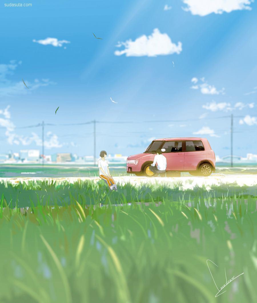 loundraw 青春的故事 漫画CG欣赏