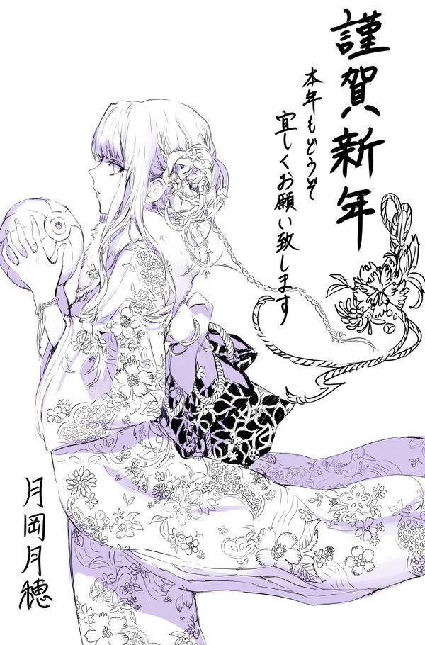 月岡月穂 奢华繁复的漫画CG欣赏