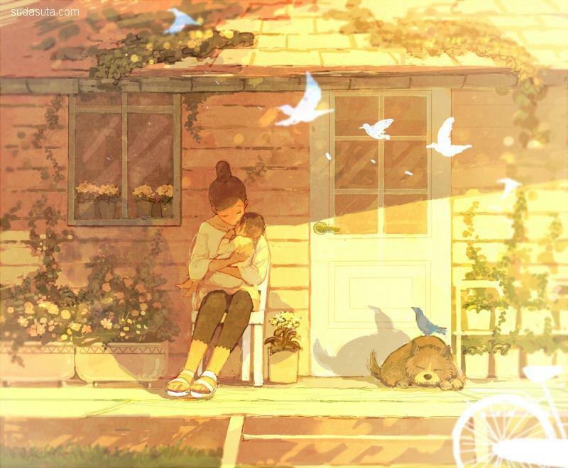 pon-marsh 日光满满 儿童插画欣赏