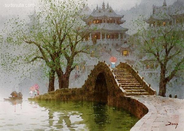 曾向明 浪漫主义风景绘画欣赏