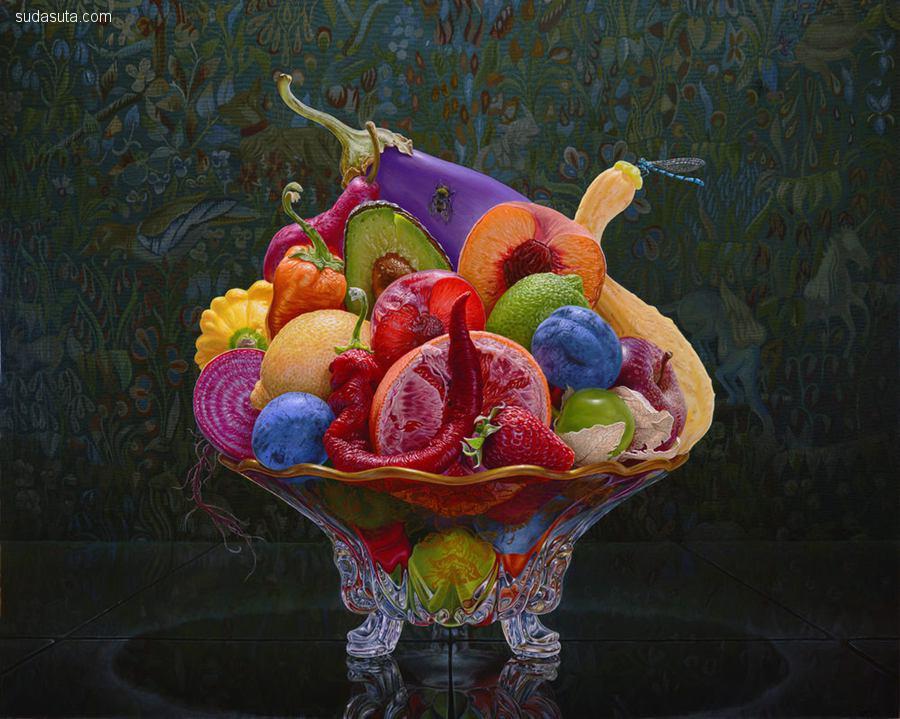 Eric Wert 令人不安的水果艺术