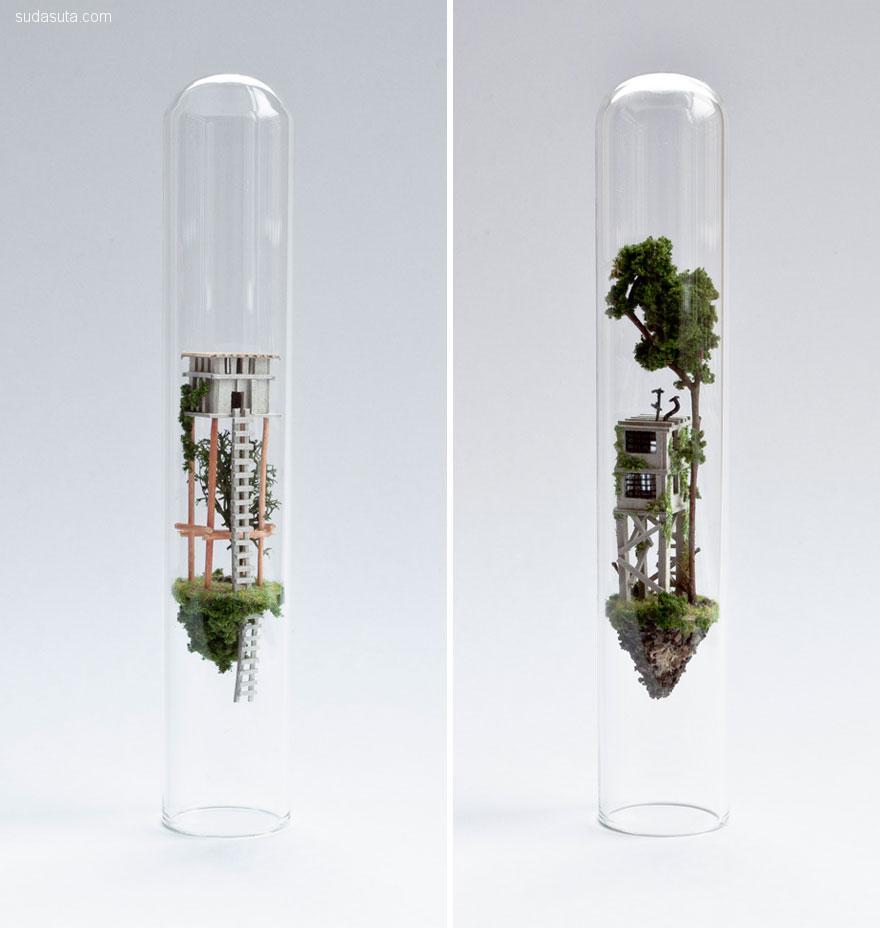 Rosa de Jong 瓶子中的手工微雕艺术