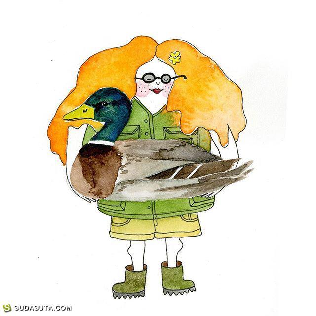 Billur Kazaz 安静有趣的小插画