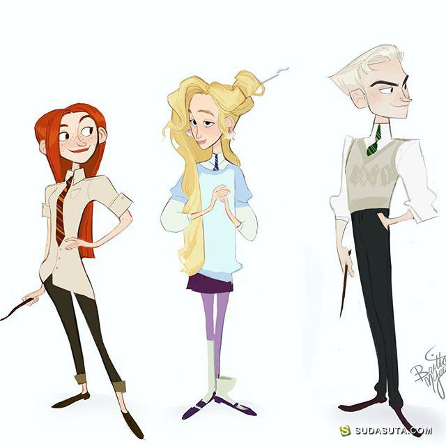 Brittany Myers 卡通人物造型设计
