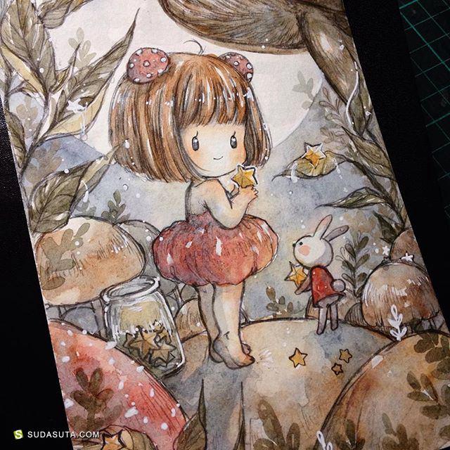 Cherri 手绘同人水彩插画