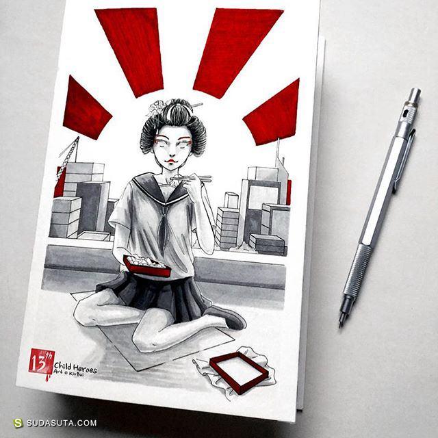 Kiv Bui 水彩手绘欣赏