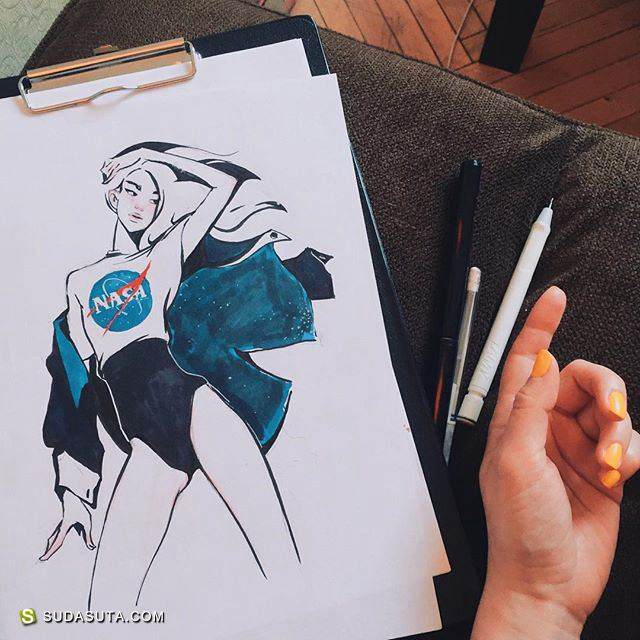 Diana Volonskaya 时尚插画欣赏