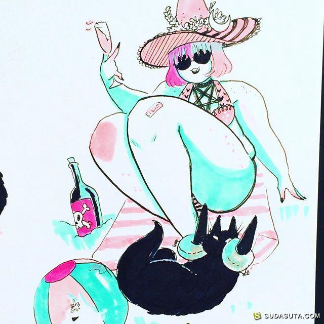 Jiji Knight 胖妞胖妞 手绘同人插画欣赏