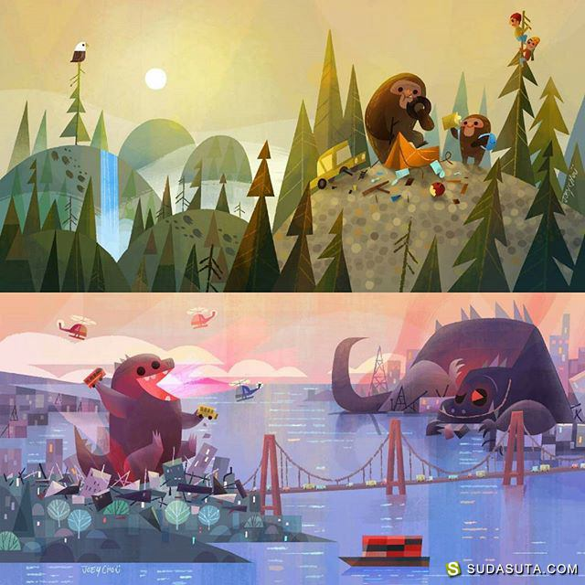 Joey Chou 迪士尼同人插画欣赏