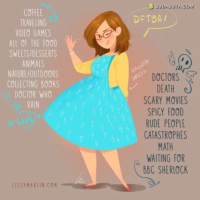 Lissy Marlin 浪漫可爱的手绘卡通