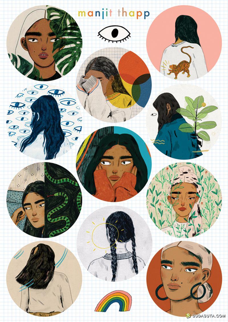 Manjit Thapp 绘画作品欣赏