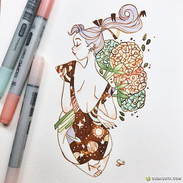 Sibylline 卡通涂鸦本子
