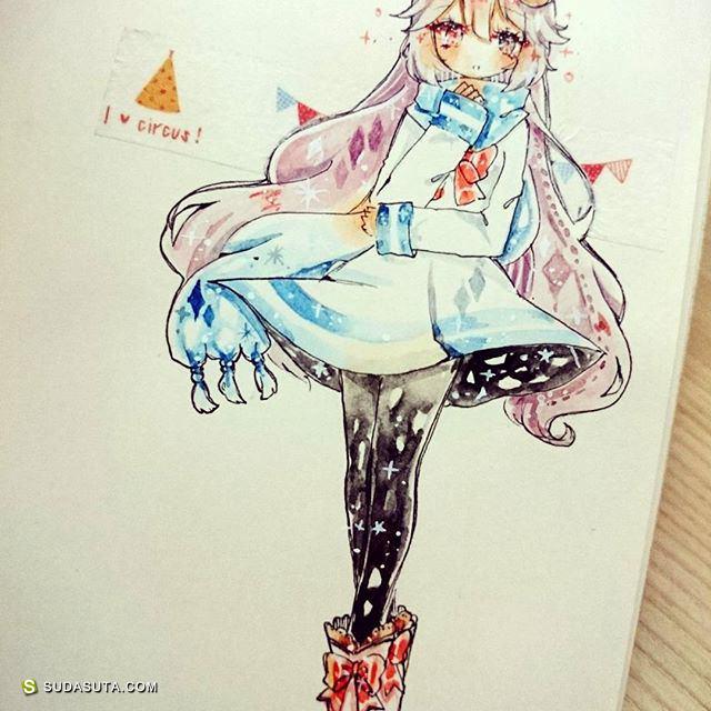 kaneko_nii 清新可爱的手绘漫画