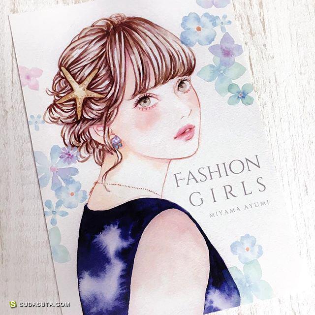 miya 时尚手绘水彩插画