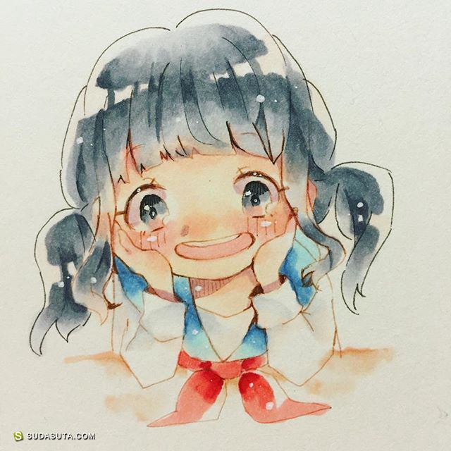 なみの 萌萌的包子脸 手绘少女漫画欣赏