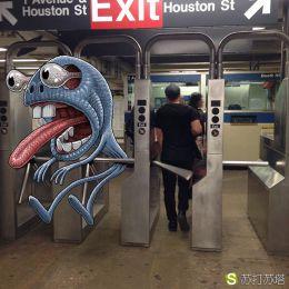 Rubin 纽约地铁涂鸦