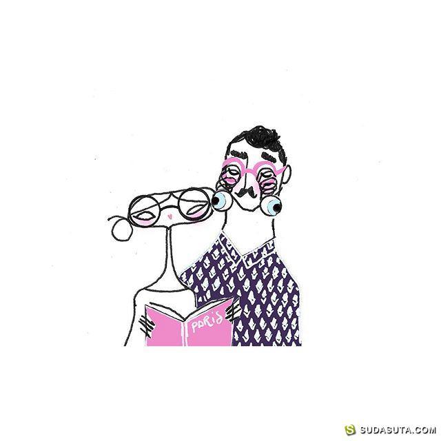 vincentmoustache 时尚插画欣赏