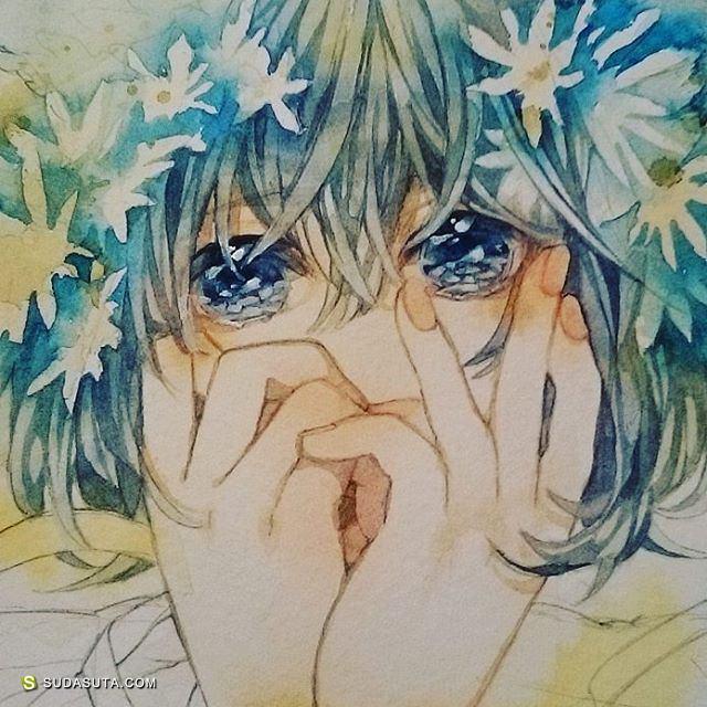 わかな wakana 清新可爱的水彩漫画