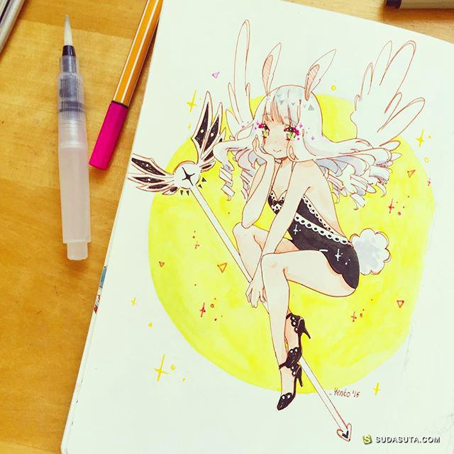 yenko 手绘涂鸦本子