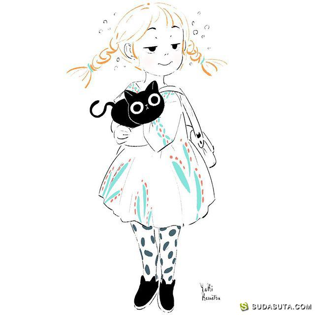 yuki kawatsu 清新可爱的手绘美少女
