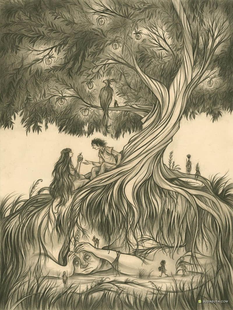 Cory Godbey 怪物肖像插画