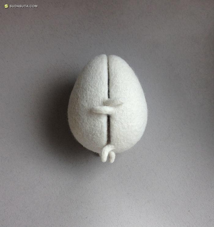 Hanna Dovhan 手工羊毛毡玩具设计欣赏