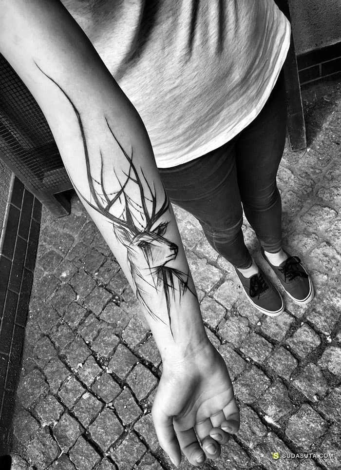 纹身艺术家 Inez Janiak